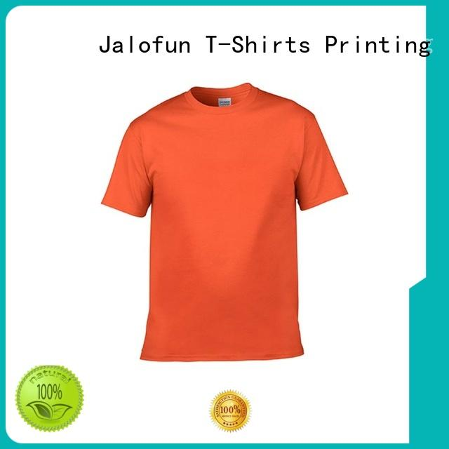 Jalofun logo custom logo shirts factory price for leisure time