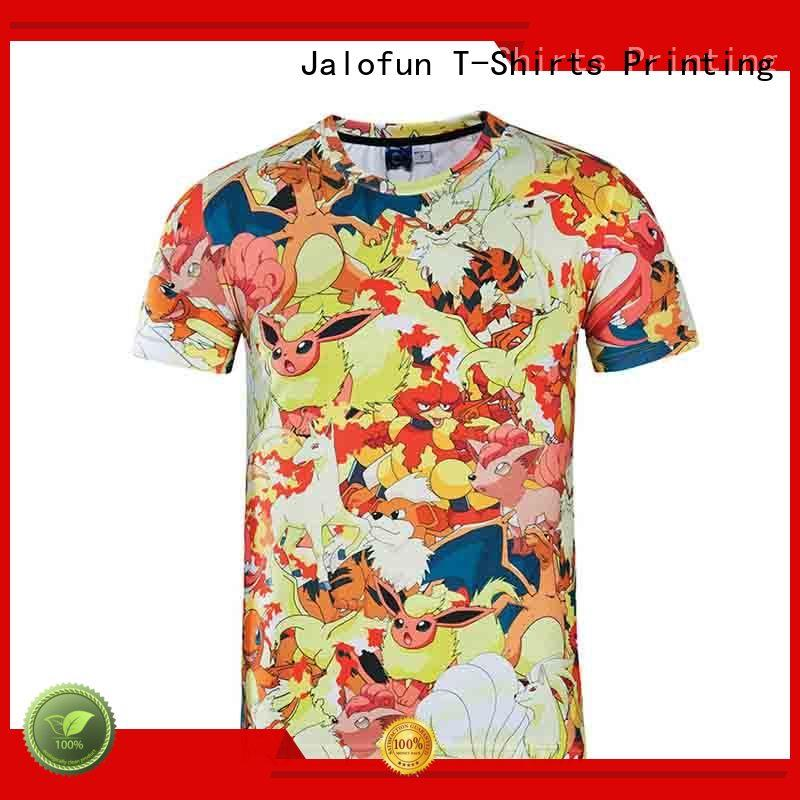Jalofun printing custom tee shirt printing for business for class uniform