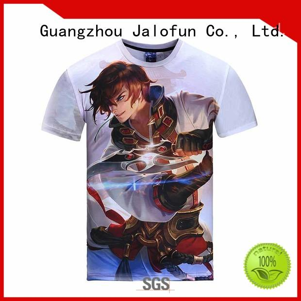 Jalofun factory price bespoke t shirt printing for sale for summer