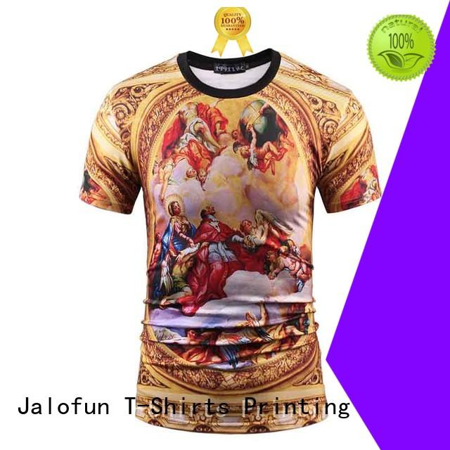 Jalofun polyester custom prints shirts for sale for travel