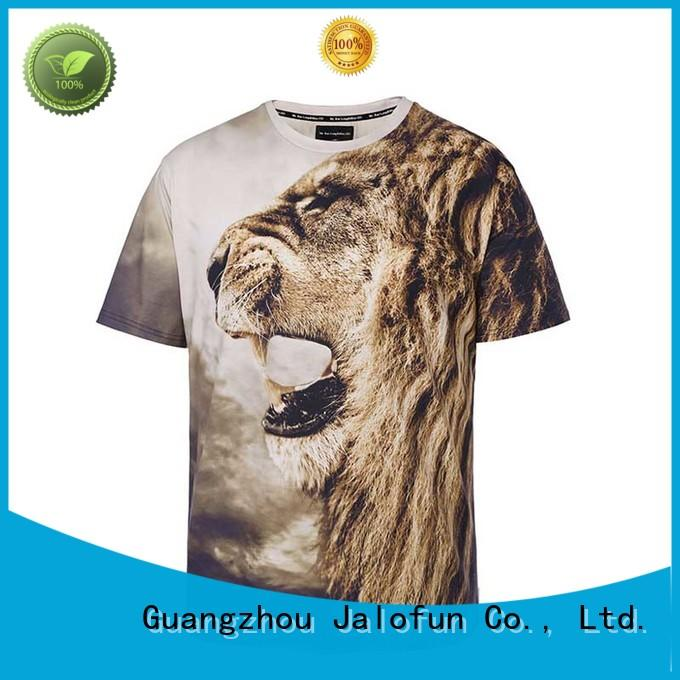 Jalofun cotton custom tee shirt printing suppliers for man