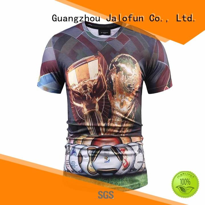 Jalofun customized heat transfer printing t shirt for sale for going to school