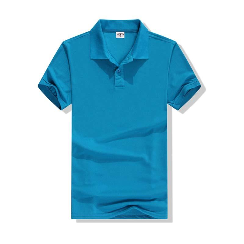 Good quality lightweight cotton polo shirts custom round hem plain polo shirt