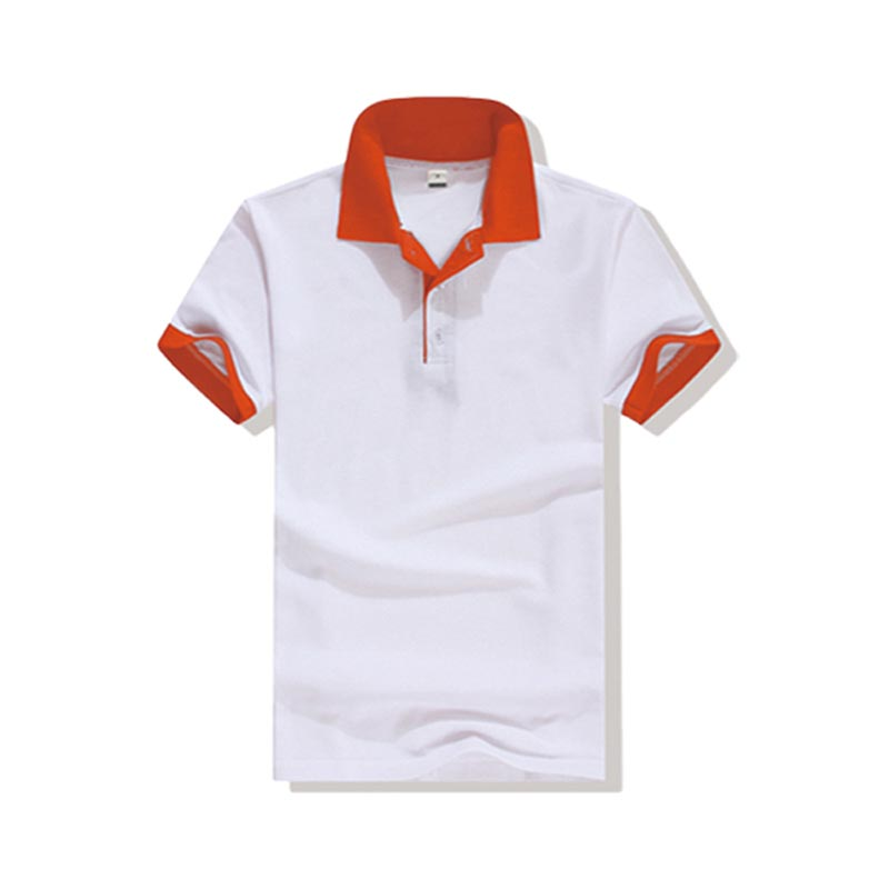 New pique polo shirt hem for business for work clothes-3