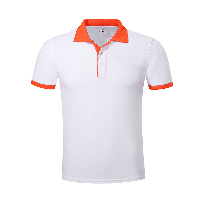 New pique polo shirt hem for business for work clothes-15
