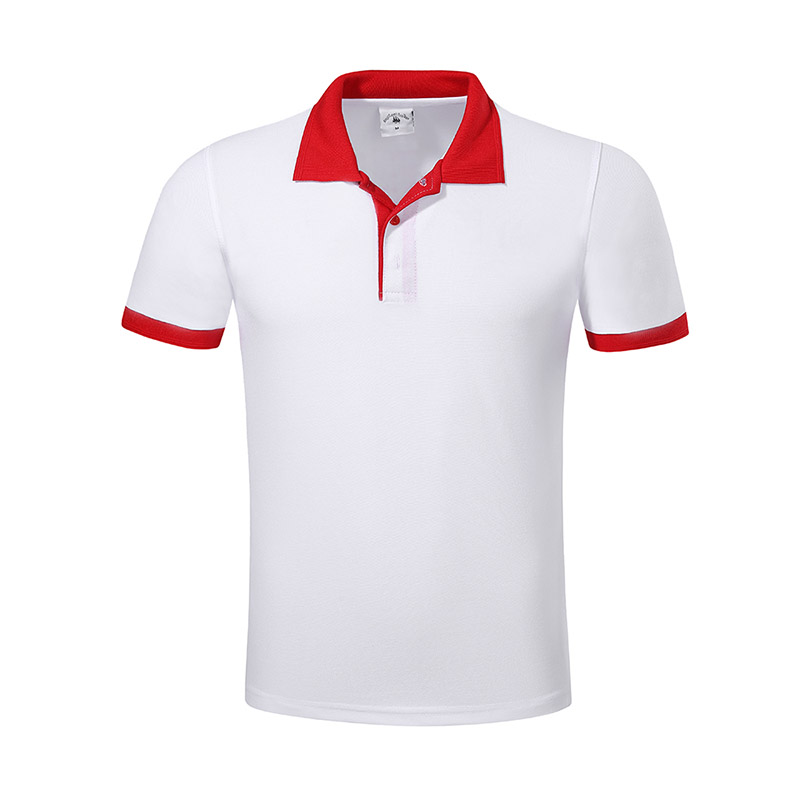 New pique polo shirt hem for business for work clothes-17