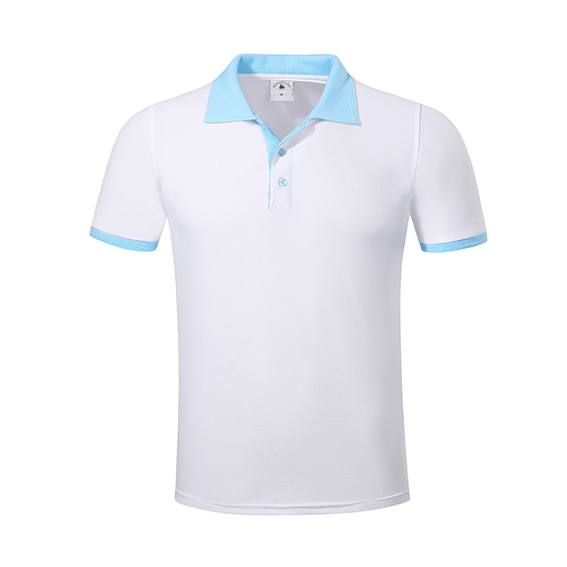 New pique polo shirt hem for business for work clothes-18