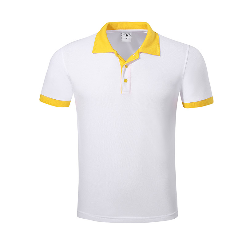 New pique polo shirt hem for business for work clothes-19
