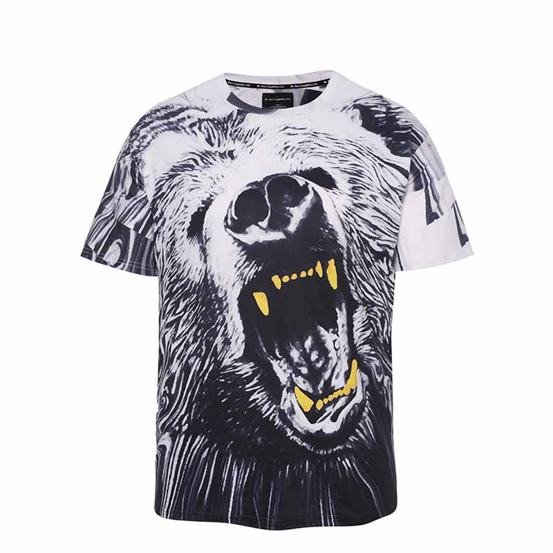 Factory Price Bespoke T Shirt Printing with Custom Logo-4