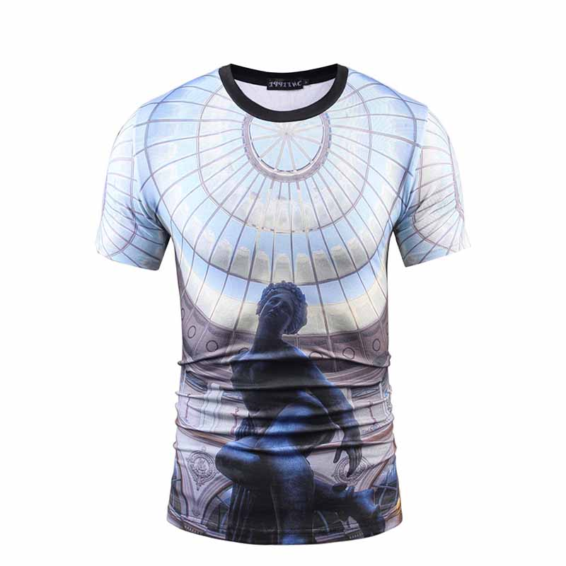 Cheap Custom Screen Print Shirts with Logo/ Sublimation T Shirts-4