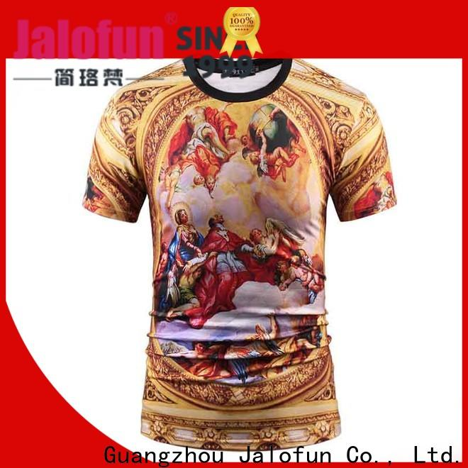 Jalofun promotion tee shirt printing for business for summer