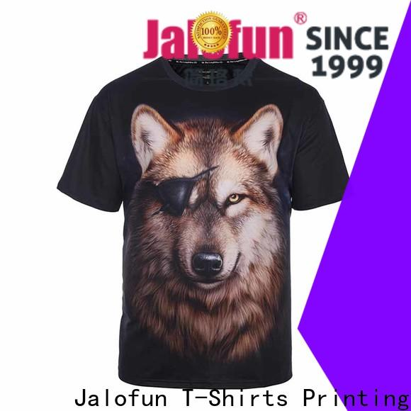 Jalofun screen bespoke t shirt printing factory for travel