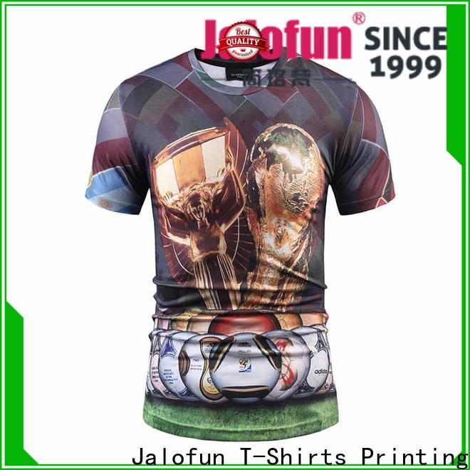 Jalofun screen cotton t shirt supply for outdoor activities