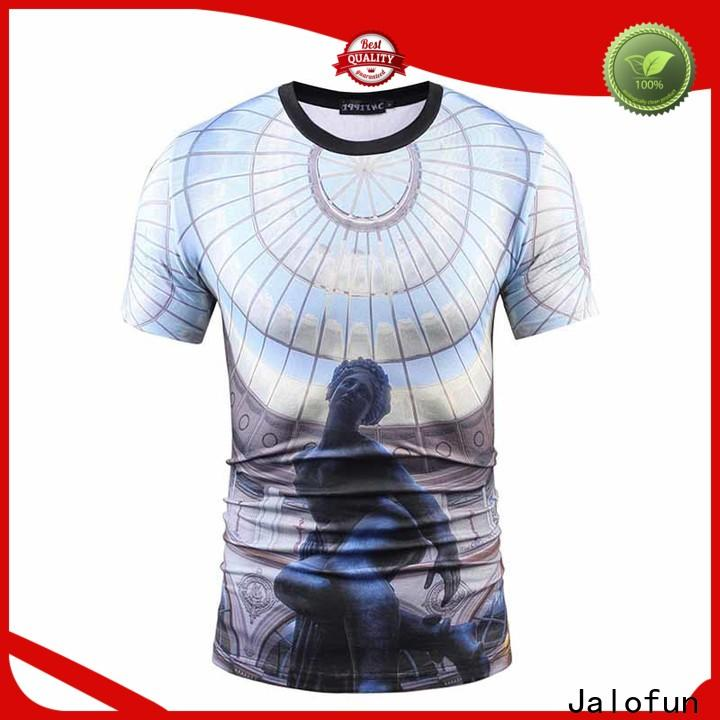 Jalofun low sublimation printing t shirt suppliers for leisure time