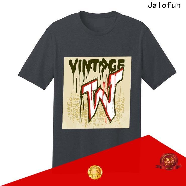 Jalofun promotion bespoke t shirt printing factory for travel
