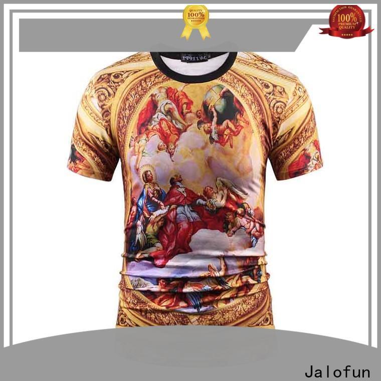 Jalofun textile cotton t shirt suppliers for class uniform