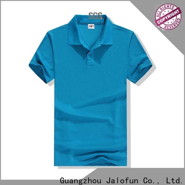 Jalofun round pique polo shirt supply for summer