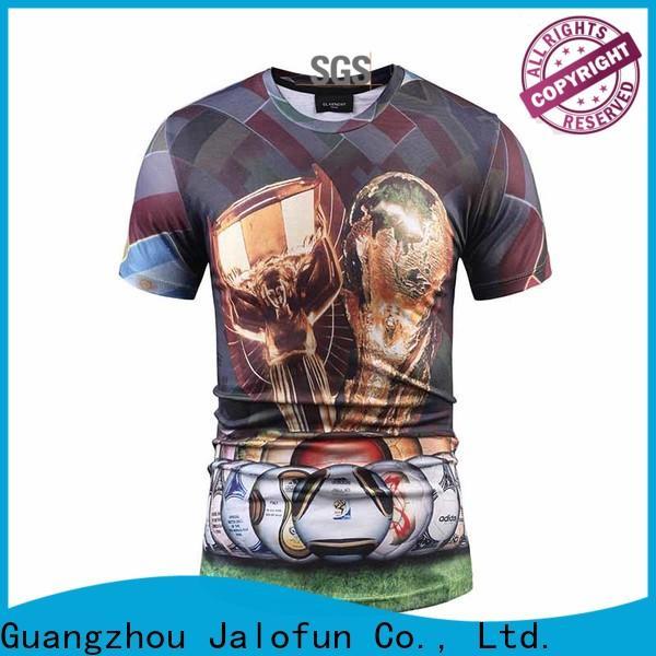 Jalofun cotton customized tee shirts manufacturers for going to school