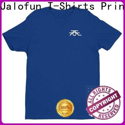 Jalofun shirts customized tee shirts factory for work clothes