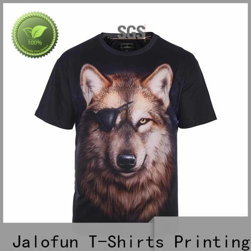 Jalofun tee custom logo shirts manufacturers for sport