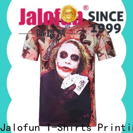 Jalofun printed heat transfer printing t shirt for sale for travel