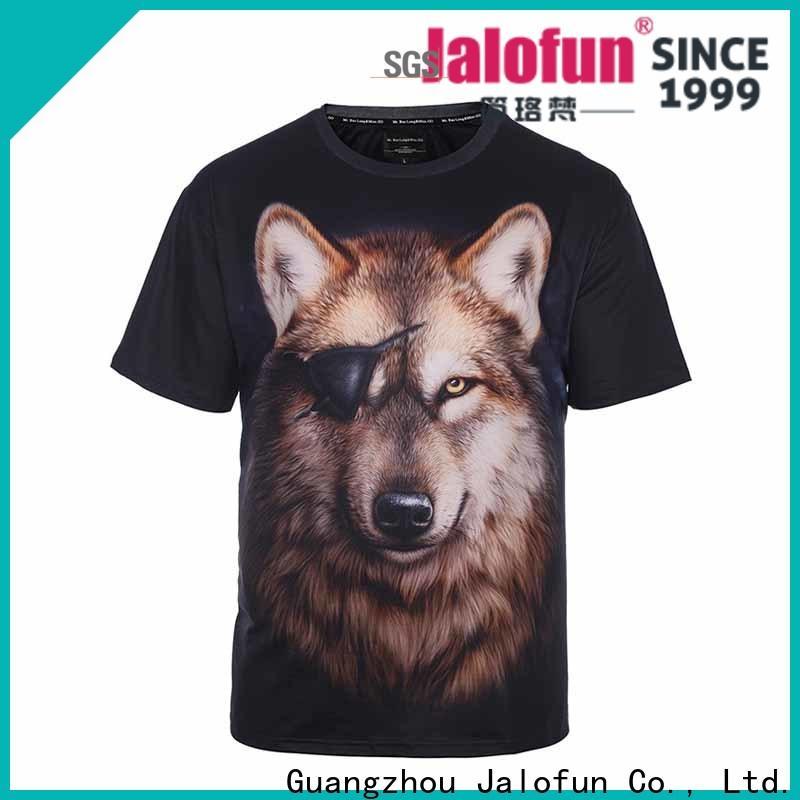 Jalofun cotton silk screen printing t shirt for business for spring