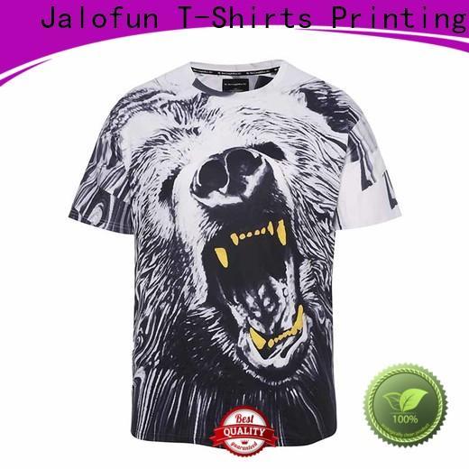 Jalofun bespoke sublimation printing t shirt suppliers for sport