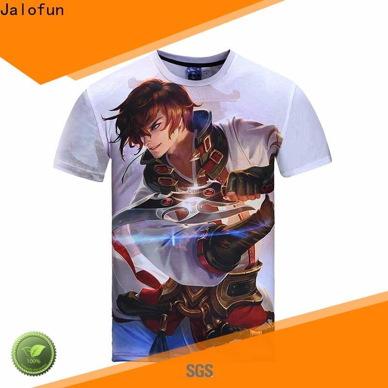 Jalofun shirts heat transfer printing t shirt factory for class uniform