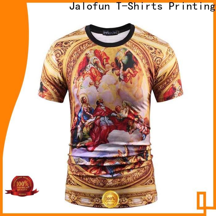 Jalofun professional direct to garment printing t shirt suppliers for class uniform