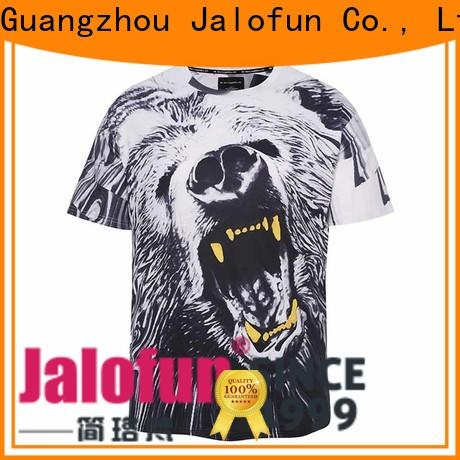 Jalofun High-quality custom embroidered t shirts manufacturers for sport