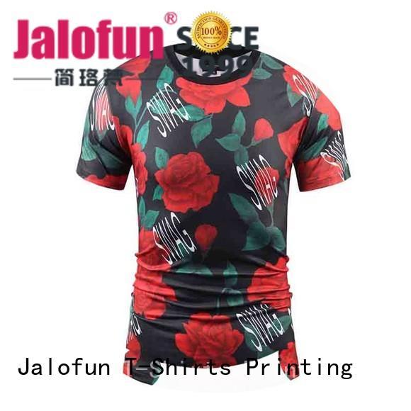 Jalofun made printing shirt supply for sport