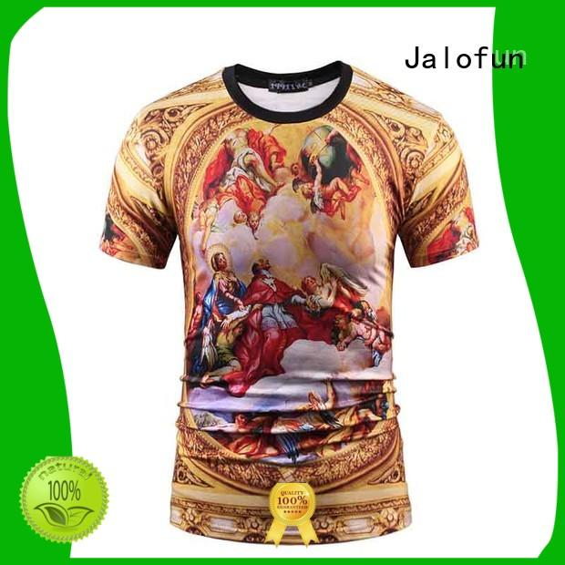 Jalofun cotton cotton t shirt supply for work clothes