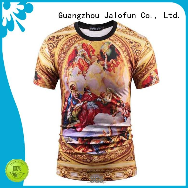 Jalofun polyester custom screen print shirts factory for summer