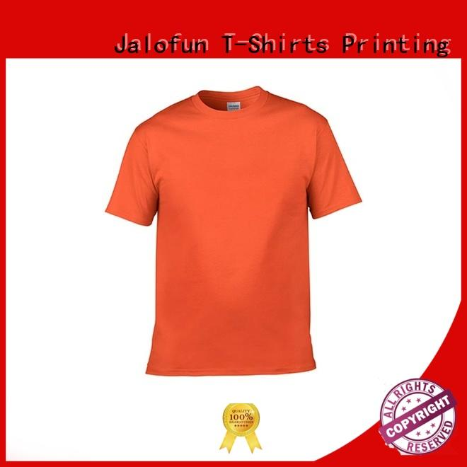 Jalofun made custom embroidered t shirts for business for man