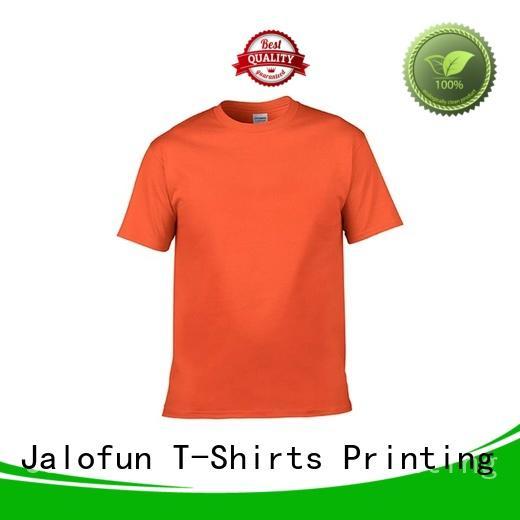 Jalofun polyester tee shirt printing manufacturers for leisure time