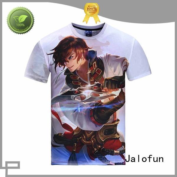 customized sublimation t shirt promotion for class uniform Jalofun