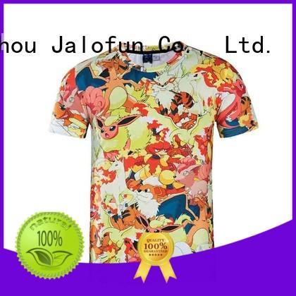 Jalofun stylish design sublimation printing t shirt for sale for travel