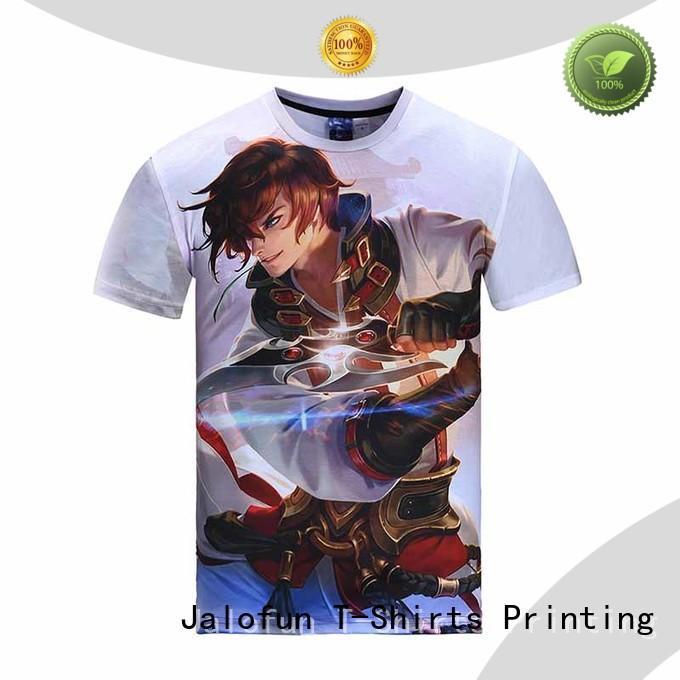 Jalofun shirt heat transfer printing t shirt factory for class uniform