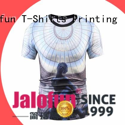 Jalofun factory price sublimation printing t shirt printed for going to school