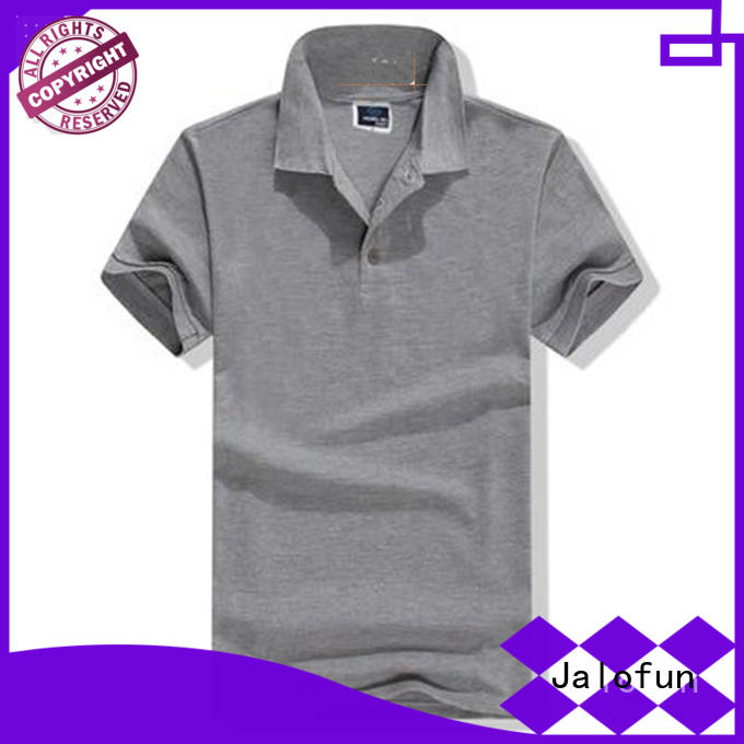 plain polo t shirts hem Jalofun