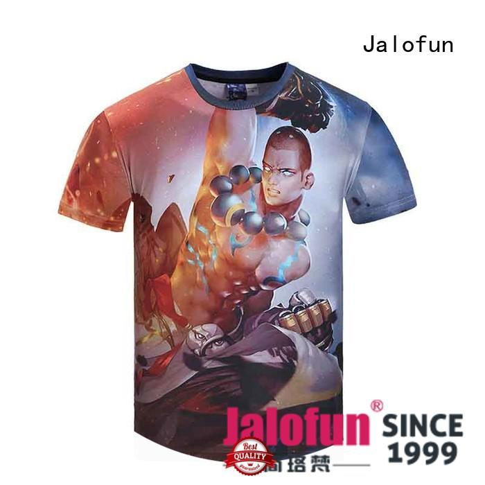 Jalofun high quality custom embroidered t shirts for sale for work clothes