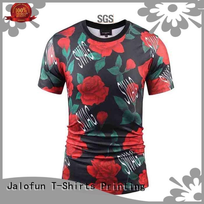 Jalofun short sleeve custom embroidered t shirts company