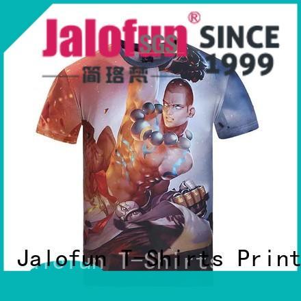 Jalofun cheap custom bespoke t shirt printing supply for outdoor activities