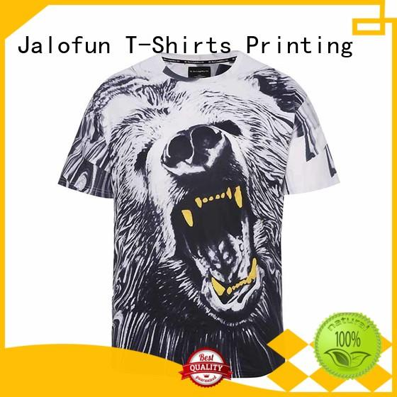 Jalofun fashion design direct to garment printing t shirt suppliers for sport