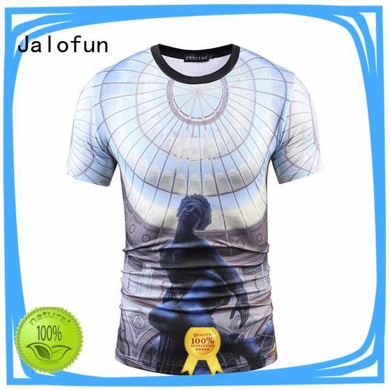 Jalofun tshirt custom logo shirts for business for outdoor activities