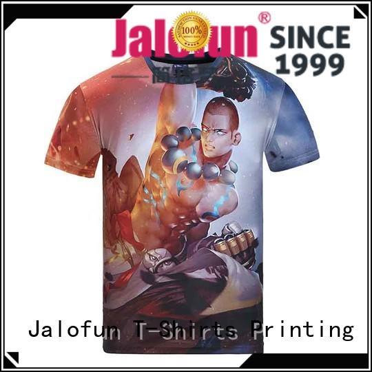 Jalofun fashion design silk screen printing t shirt company for going to school