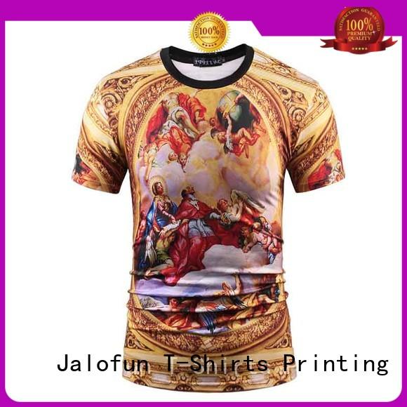 Jalofun high quality silk screen printing t shirt suppliers for summer