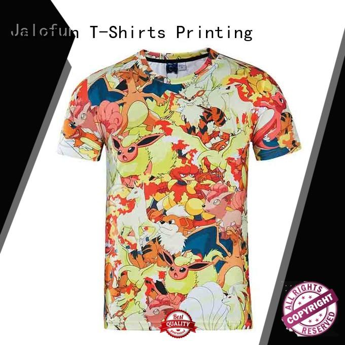 Jalofun shirt tee shirt printing suppliers for leisure time