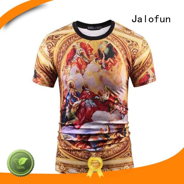 Jalofun tee custom prints shirts factory for travel