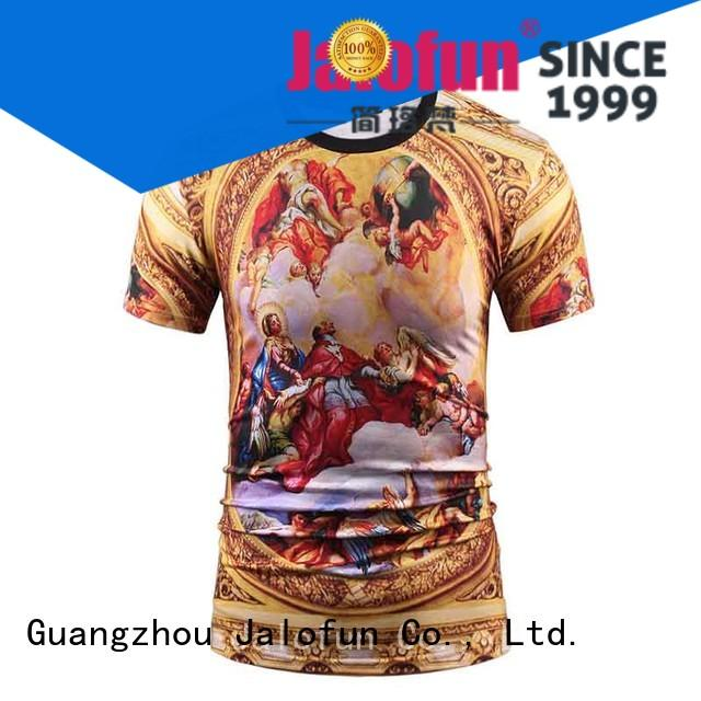 Jalofun polyester tee shirt printing for sale for travel